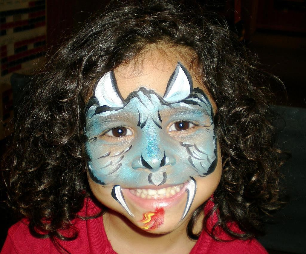 Blue Dragon Face Painting